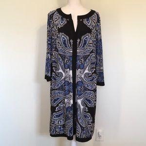 INC Concepts Jersey Knit Boho Paisley Print Dress